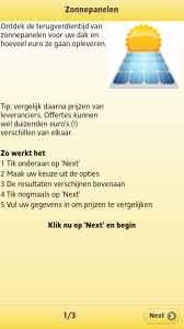Zonnepanelen app